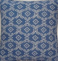 A 16 Inch cushion cover in Laura Ashley norton denim fabric