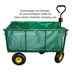Gartenwagen Gitterwagen Handwagen Transportwagen   bis 550 Kg  Luftbereifung