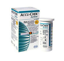 Test Strips 100 Sheets Accu-Chek Active Diabetics Aids Health Blood Band Medical