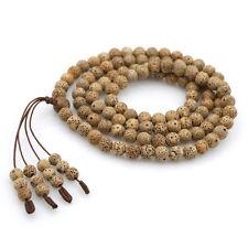 7mm Star&Moon Bodhi Seed Tibet Buddhist 108 Prayer Beads Mala Necklace