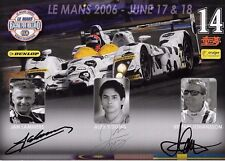 —/Yoong/JOHANSSON firmato 12x8 RACING for HOLLAND cupola PROMOCARD 2006