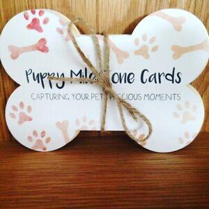 Puppy dog pet milestone cards
