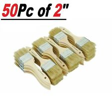 """Lot of 50 2"""" Chip Brushes Brush Perfect for Adhesives Paint Touchups 2 Inch"""