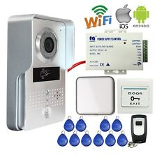 Outdoor RFID Access Wireless WiFi IP Doorbell Camera Video Intercom Android/IOS