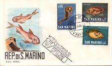 FDC PRIMO GIORNO DI EMISSIONE - 1966 REPUBBLICA DI SAN MARINO PESCI -  C5-986