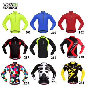 Men's Cycling Jersey Cycle Shirts MTB Downhill Jerseys Long Sleeve Bicycle Tops