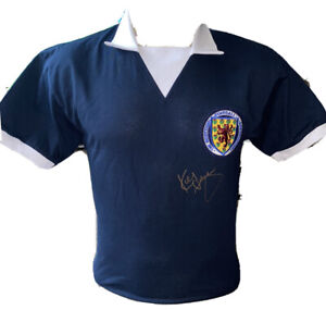 Signed Scotland Home Shirt By Kenny Dalglish Liverpool Celtic