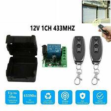 433Mhz 12V DC 1CH Relay Receiver RF Transmitter Wireless Remote Control Switch