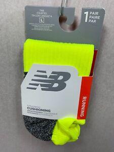 New Balance CUSHIONING NO SHOW TAB Running Socks MADE IN USA Mens/ Women Large