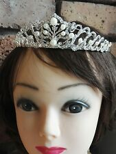 Sparkly FULL Crystal Wedding Bridal Flower Girl Tiara Prom Bridesmaid Hair piece