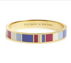 Kate Spade 'It's What's Inside That Counts' Enamel And Gold Plated Bangle