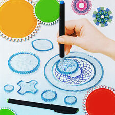 Spirograph Design Plastic Set Original Super Ruler Draw Kid Craft Create DIY Toy