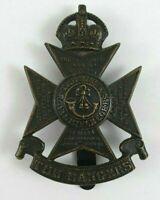 12th County of London The London Regiment WW2 cap badge - blackened