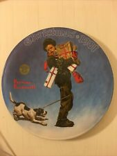 Norman Rockwell Knowles Christmas Collector Plate 1981 With Coa