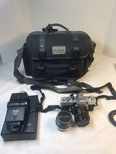 VTG MINOLTA SRT 101 CLC CAMERA MC ROKKOR-PF 1:17 55mm & Osawa MC 1:2.8 28mm LENS