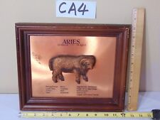 VINTAGE MID-CENTURY COPPER PICTURE ZODIAC ARIES 8 X 10 RAM 3D HIPPIE ASTROLOGY
