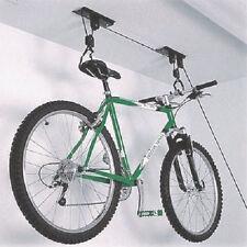Bike Wall Mount Hook Pulley Bicycle Storage Hanger Roof Mounted Holder Garage