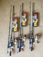 Dealer Case Lot Of 3 Zebco Ready To Fish Bass Combos 6' Spinning Rod W Lures