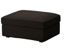 Original SLIPCOVER for KIVIK Footstool (Ottoman) from IKEA, Teno Black, NEW