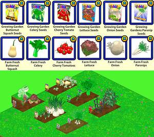 2020 Webkinz !!!PICK 3!!! VEGGIE FEST Growing Garden Farm Fresh Seed Packets