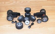 Mixed Lot of 16 Genuine K'nex Different Sized Truck & Car Tires / Wheels *Read*