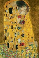 GUSTAV KLIMT ~ THE KISS 24x36 FINE ART POSTER Masterpiece NEW/ROLLED!