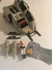 1987 Vintage Gi-Joe Cobra Wolf Vehicle & Driver Ice Viper  W/ Filecard & parts