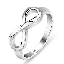 Silber Infinity Ring Unendlichkeit Echt Sterlingsilber 925 massiv ewige Liebe