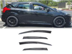 FOR 2012-2017 Ford Focus SMOKED WINDOW VISOR WIND DEFLECTOR RAIN SHADE