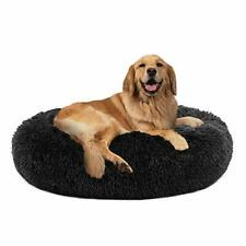 Large Dog Bed Calming Dog Bed, (L/Xl/Xxl/Xxxl) Comfortable Donut Dog Bed for Med