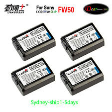 AU-ship 4x Battery for Sony NP-FW50 BC-VW1 A5000 A6000 A6300 ILCE-7M2