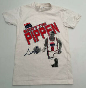 Vtg Scottie Pippen T Shirt USA Basketball Dream Team 1992 Youth Medium