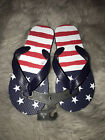 American Flag Woman's Flip Flops Sandals USA Fourth Of July Size S M L