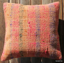 (40*40cm, 16inch) Modern NEW handwoven vintage kilim cushion cover pinks orange