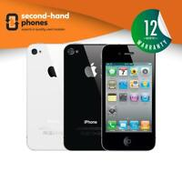 Apple iPhone 4 - 8GB 16GB 32GB - Black/White - (UNLOCKED/SIM FREE) Smartphone