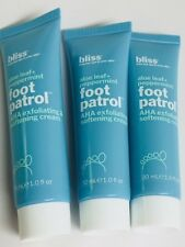 Bliss Foot Patrol Aloe & Peppermint AHA Exfoliating Softening Cream 3 oz