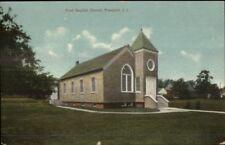 Freeport Long Island NY First Baptist Church c1910 Postcard