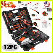 NEW 12 Pieces Garden Hand Tools Set Home Lawn Kit trowel Household Equipment HOT