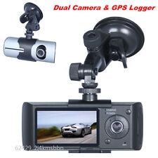 R300 2.7'' 16:9 Dual Lens HD 1080P Autos Video DVR Recorder Dash Cam GPS Logger