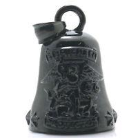 Archangel St. Michael Catholic Saint Patron Stainless Steel Black Bell Pendant