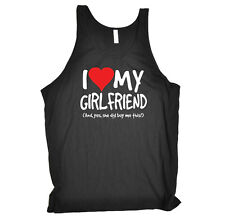 Funny Novelty Vest Singlet Top - I Love My Girlfriend And Yes She Did Buy Me Thi