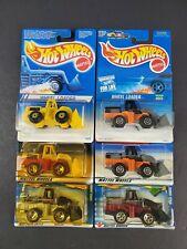 Hot Wheels Wheel Loader Construction Lot 6 Car 111 123 186 641 Variation NEW