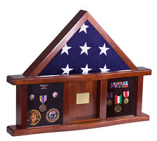 Freedom Display Cases MILITARY MEDAL SHADOW BOX w/ DISPLAY CASE for 3x5 ft Flag