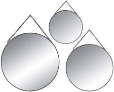 3-er Set Spiegel Wandspiegel Dekospiegel Wanddeko Schminkspiegel Kosmetikspiegel