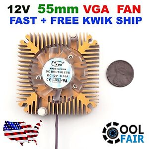 12v 55mm VGA Video Card Heatsink Cooling Fan PC CPU Aluminum Cooler 2Pin