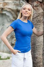 Camiseta de Mujer Camiseta Verano Manga Corta Cuello Redondo Algodón Trabajo