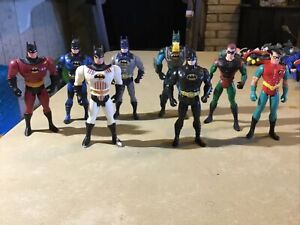 "8 Vintage Loose DC Comics 6"" Batman & Robin Loose Action Figures Lot Early 90s"