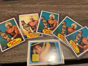 1985 WWF Topps Hulk Hogan rookie card 6 lot amazing condition invest wwe