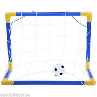 Mini Football Soccer Goal Post Net Set with Pump Indoor Outdoor Kids Sport Toy.