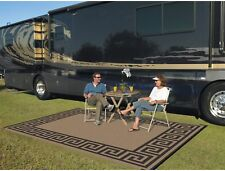 RV Accessories Patio Deck Rug Mat Indoor Outdoor Reversible Washable 9'x 12'